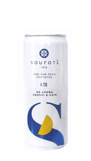 Souroti Carbonated Mineral Water Lemon flavour 330ml