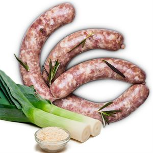 Authentic Pork Sausages with Leek