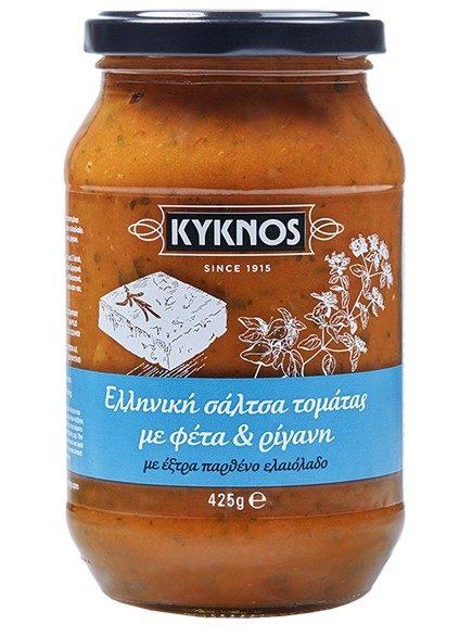 Kyknos Tomato sauce with feta and oregano 425g