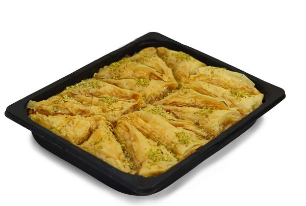 Baklava in disposable tray