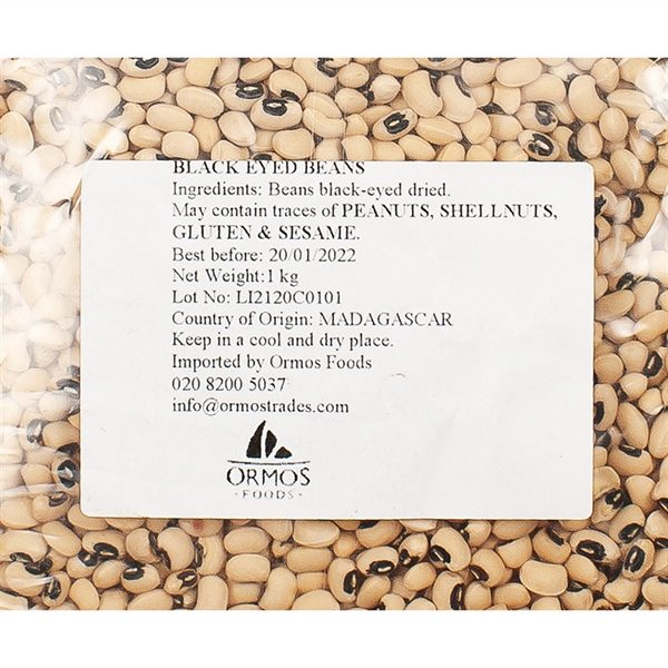 PUL001_Black Eyed Beans from Greece_1kg_label