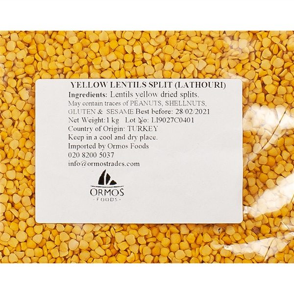 PUL004_Yellow Lentils 1kg_label